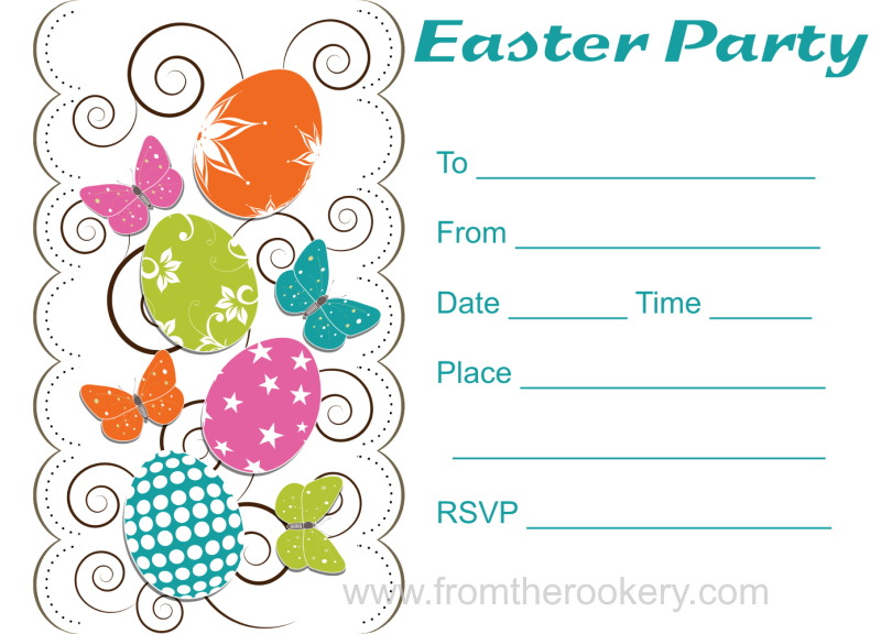 Free Printable Easter Party Invitations