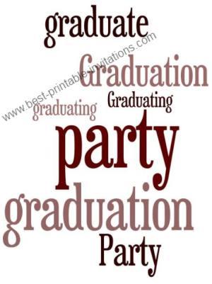 Free Printable Graduation Party Invitations - free printable invitations graduation