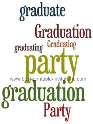 Free Printable Graduation Party Invitations - free printable invitations graduation
