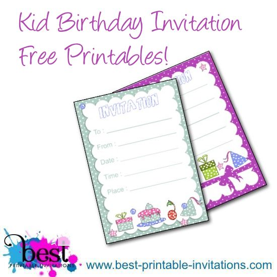 printable kids party invitations - Intoanysearch - kids birthday invites