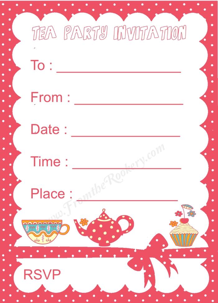 Tea Party Invitation Kids Tea Party Invitation Princess Tea Party - tea party invitation