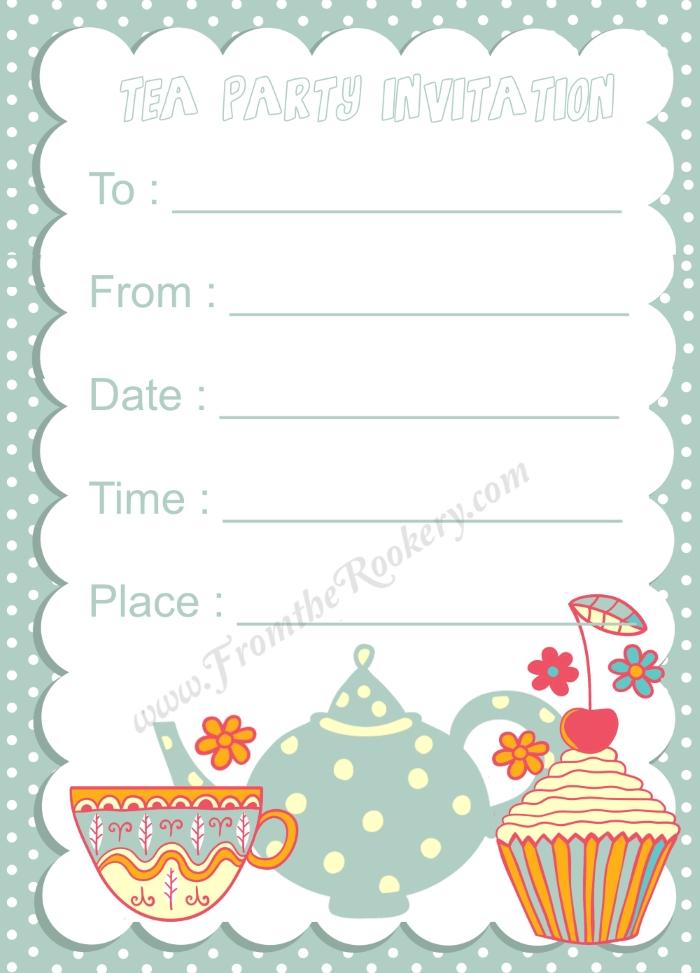 Kids Tea Party Invitation - tea party invitation