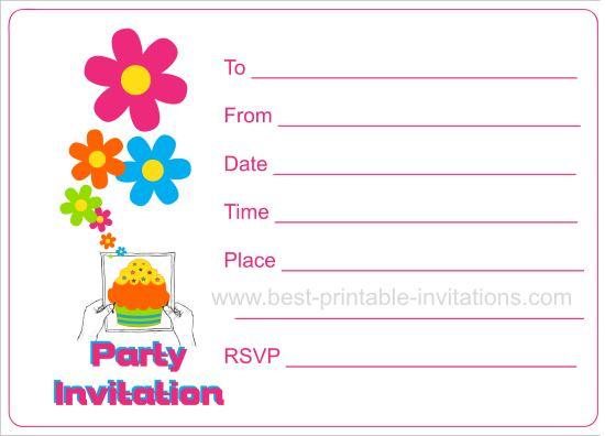 Party Invitation Card