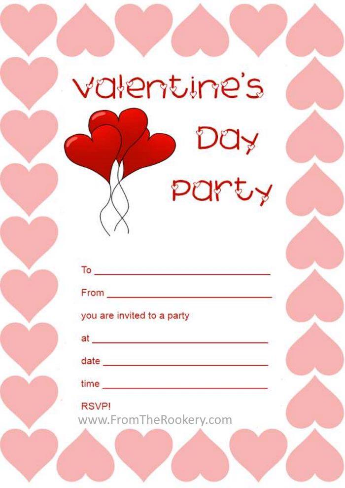 printable valentine party invitations valentines day invitations - Valentine Party Invitations