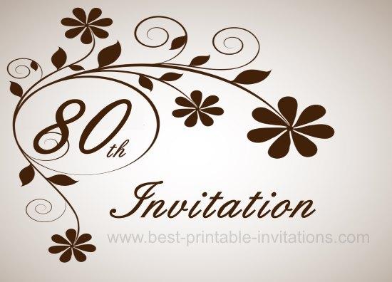 80th birthday invitations templates - Alannoscrapleftbehind - birthday invites template