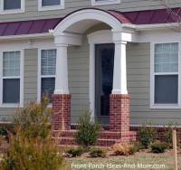 Gable Roof Over Entry Door - Kids Art Decorating Ideas