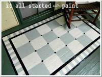 Using Porch Floor Paint to Create a Painted Rug and ...