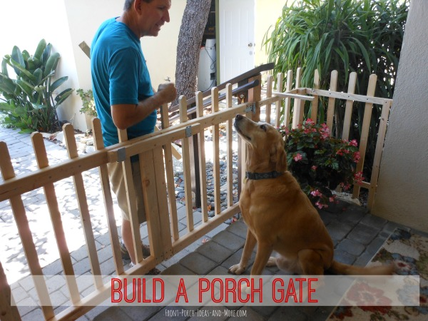 How To Build Front Porch Columns Build a Porch Gate | Build a Picket Fence Gate for Your Porch