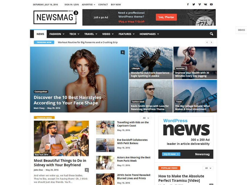 Newsmag Affiliate WordPress Theme by TagDiv