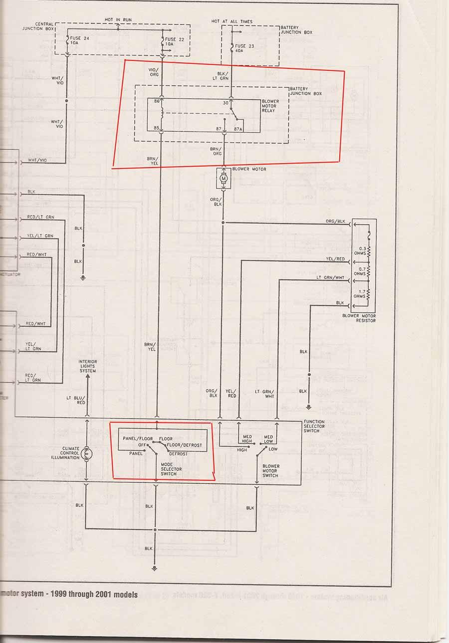 99 f350 wiper motor wiring diagram