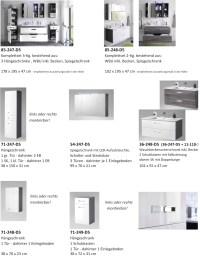 MANHATTAN Badezimmer Set 5-tlg. Grau / Wei Hochglanz Bad ...