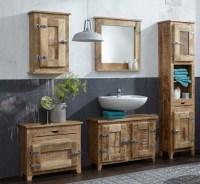 FRIGO Komplett Set Badezimmer Waschtisch Mangoholz Massiv ...