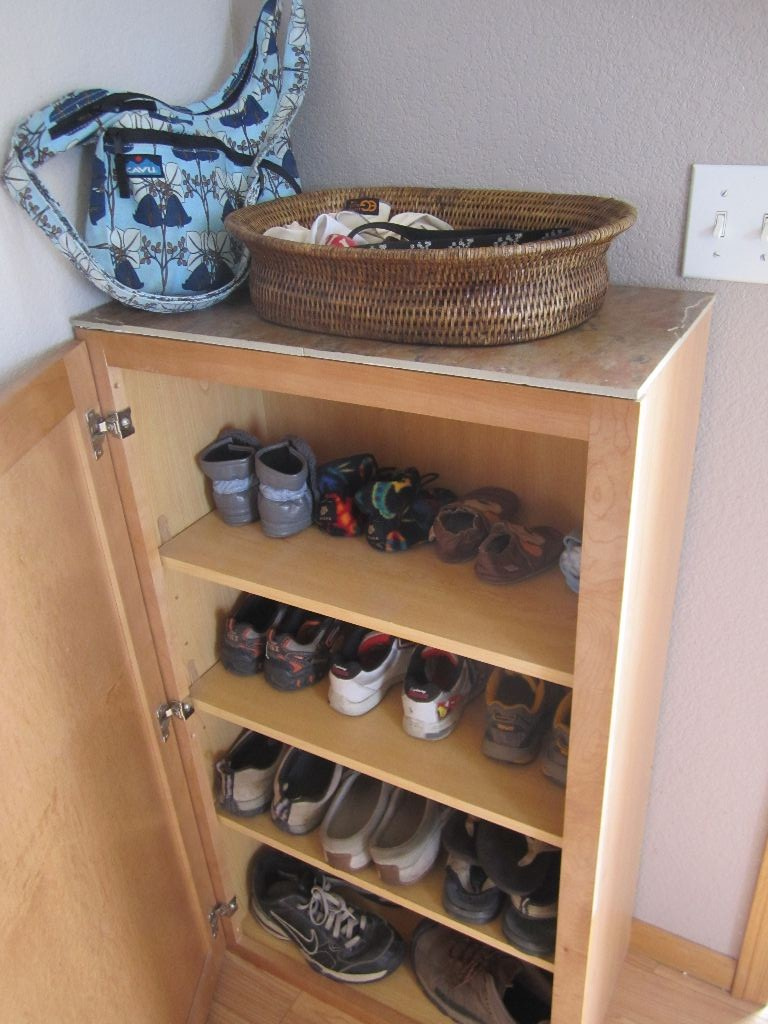 Turning A Kitchen Cabinet Into Shoe Storage