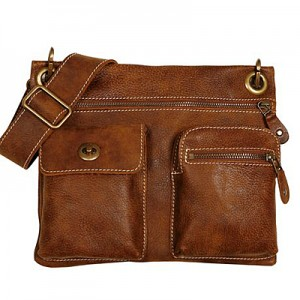 Roots Village Bag In Vintage Tribe Leather