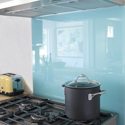 Glass act how to back paint glass - Oven splash guard ...