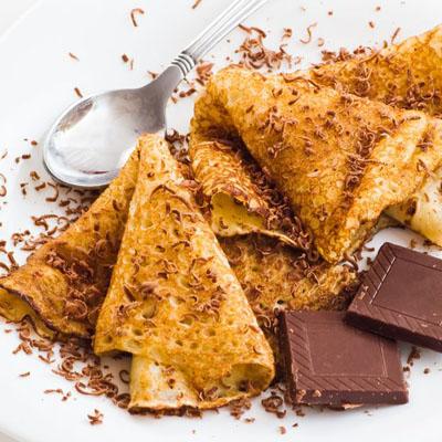 Crepes & Chocolate 123RF