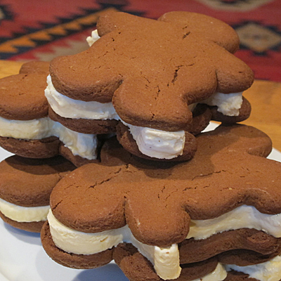 Gingerbread Men Ice Cream Sandwiches - C. Rule