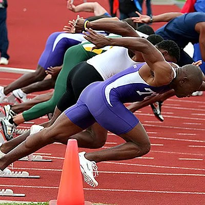 Sprinters Out Of The blocks