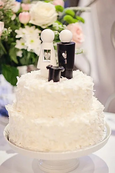 Whole Foods Wedding Cake - Wonderlust Photography