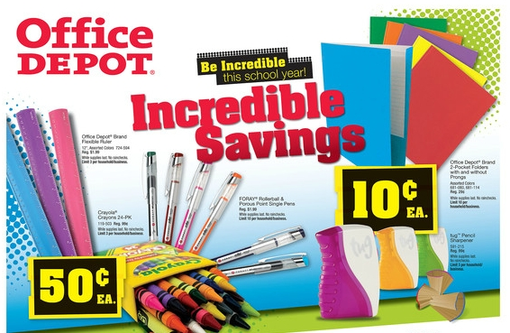Weekly Ad Deals for Office Depot Back to School Week of July 16