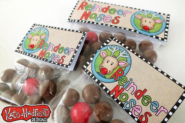 FREE Reindeer Treat Bag Topper Printable!