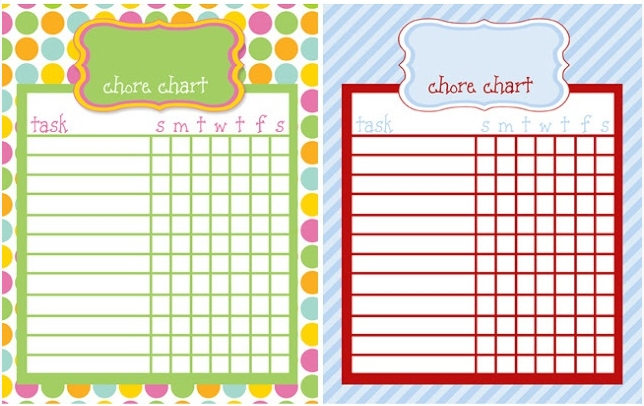 FREE Kids Chore Chart - Kids Learn to Save, Spend and Tithe