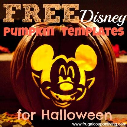 FREE Disney Pumpkin Templates - Carving Designs for Halloween - disney pumpkin templates