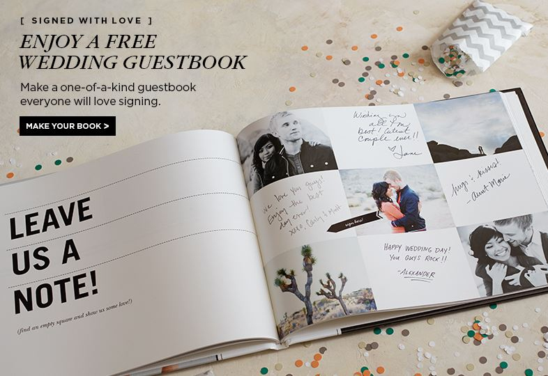 FREE Wedding Guest Book from Shutterfly - guest books wedding