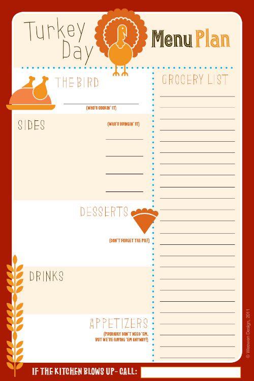 potluck sign up sheet