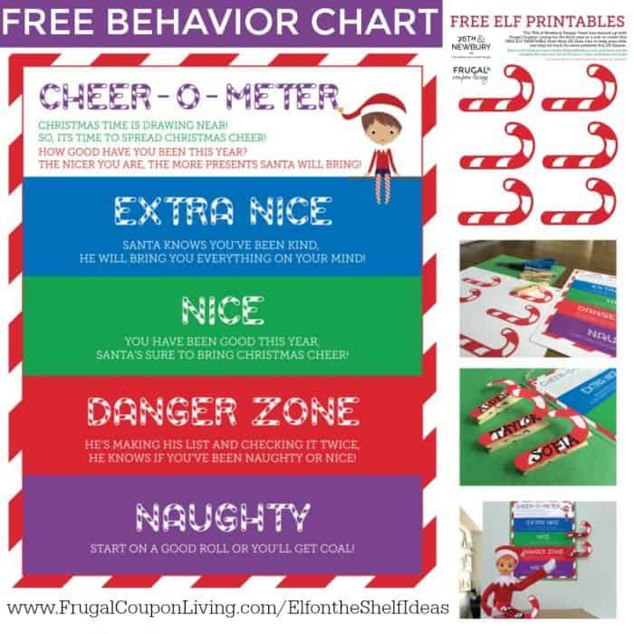 FREE Elf on the Shelf Behavior Chart Cheer-O-Meter - printable behavior chart