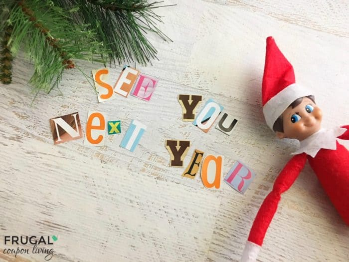 Elf on the Shelf Ideas Goodbye Note from Elf