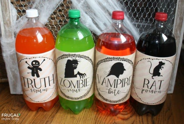Halloween 2-Liter Shocktails Bottle Labels - Free Halloween Download