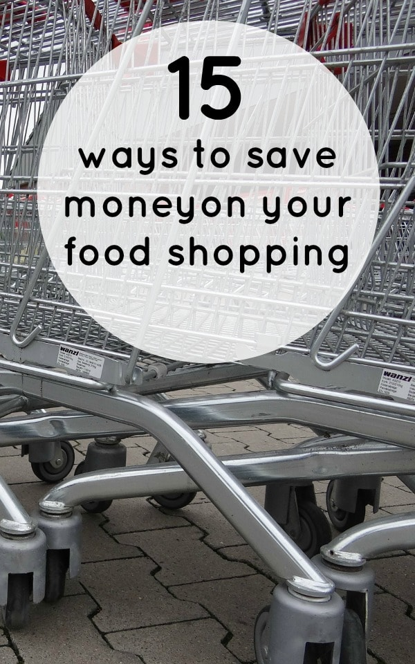 15 ways to save on your food shopping!