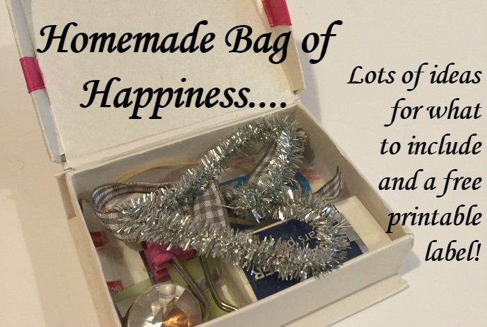 An amazing homemade gift – Happiness in a bag {With a free printable label}….