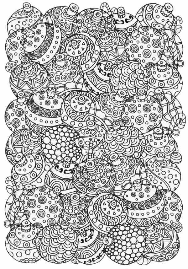 coloring pages christmas baubles - photo#35