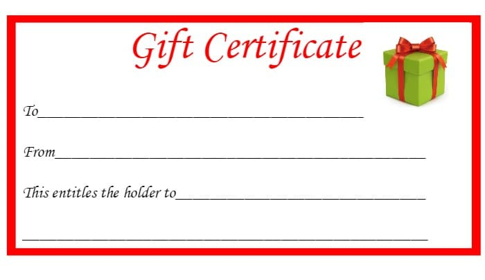 graphic relating to Free Printable Christmas Gift Certificates identified as Absolutely free Printable Xmas Present Certificates