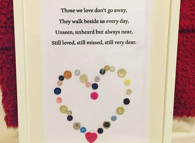How we made beautiful wall art from some very special buttons….