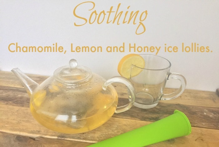 Soothing Chamomile, Lemon and Honey ice lollies. 1