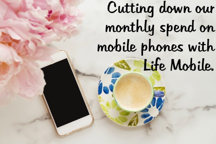 Cutting down our monthly spend on mobile phones with Life Mobile….