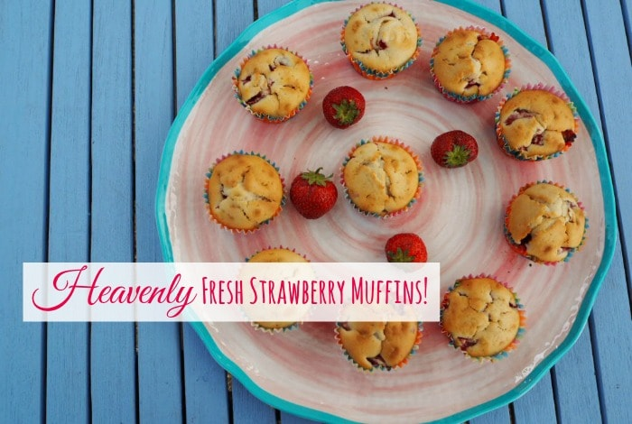 Heavenly Fresh Strawberry Muffins….