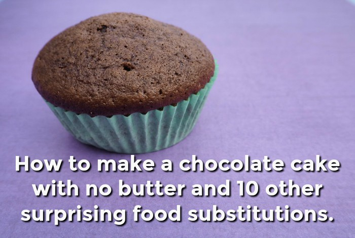 How to bake a cake with no butter and 10 other frugal food substitutions….