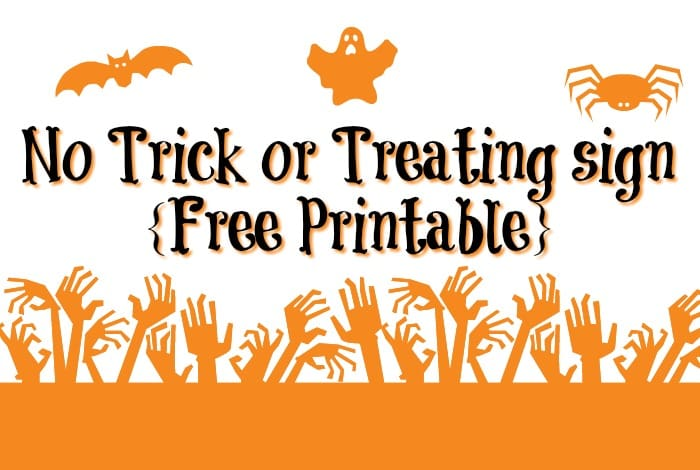 No Trick or Treating sign {Free Printable}….