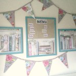 How to make shabby chic wall art and a menu planner using  wallpaper samples….