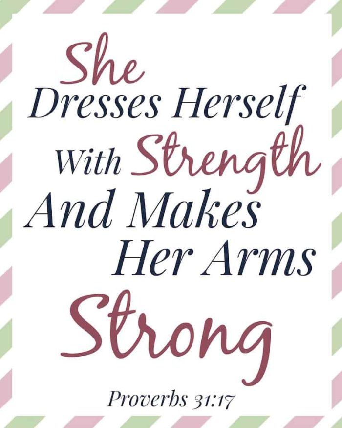 Proverbs 3117 - Bible Verses for Moms The Frugal Farm Wife