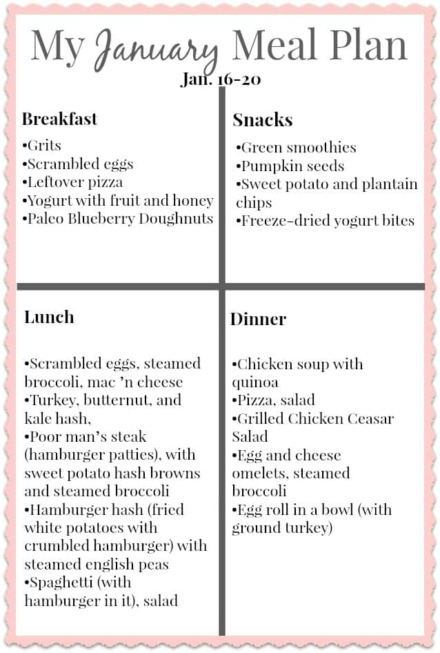 Clean Eating Menu Plan For Four The Frugal Farm Wife