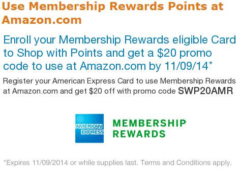 Amazon 20 American Express Promo $20 Amazon Credit When Using Membership Rewards