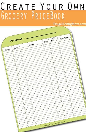 How to Create Your Own Grocery Price Book Frugal Living Mom - grocery price book template excel