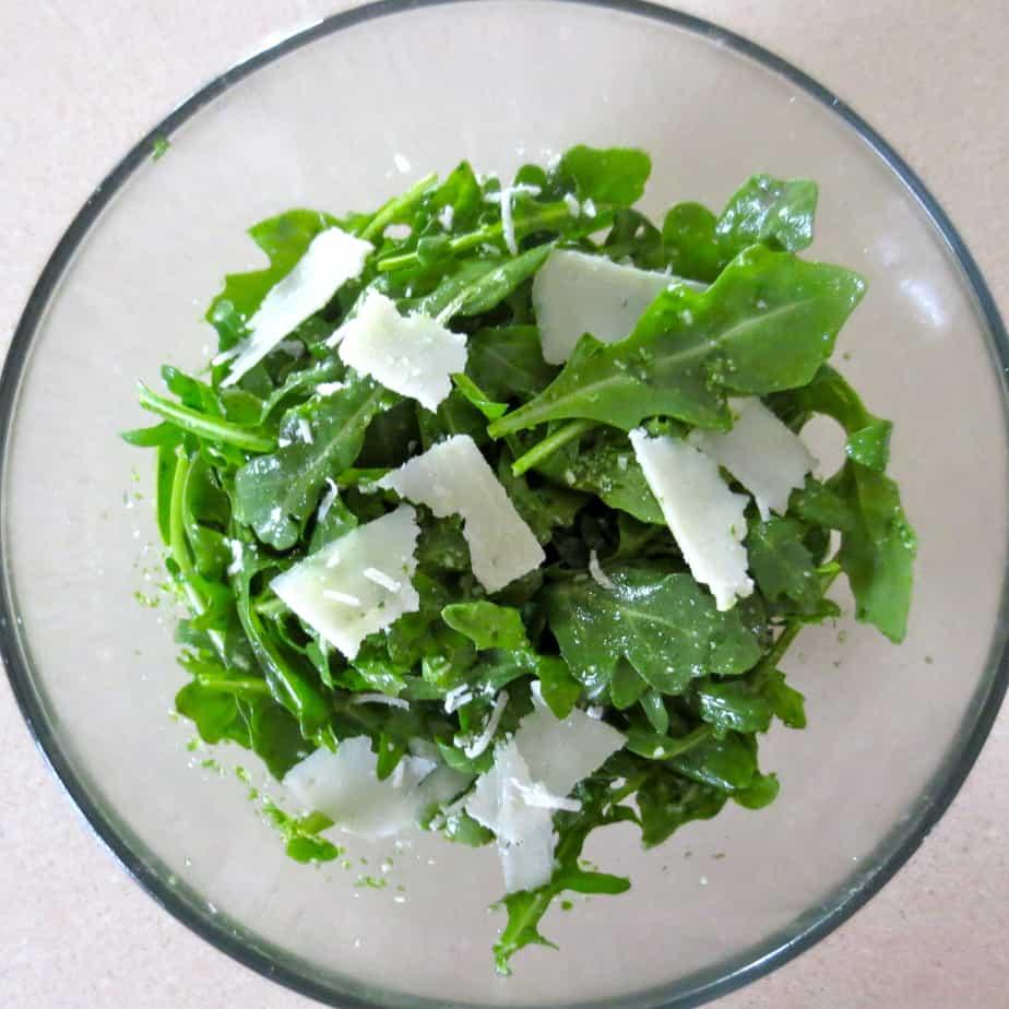 Arugula Basil Lemon Parm Salad