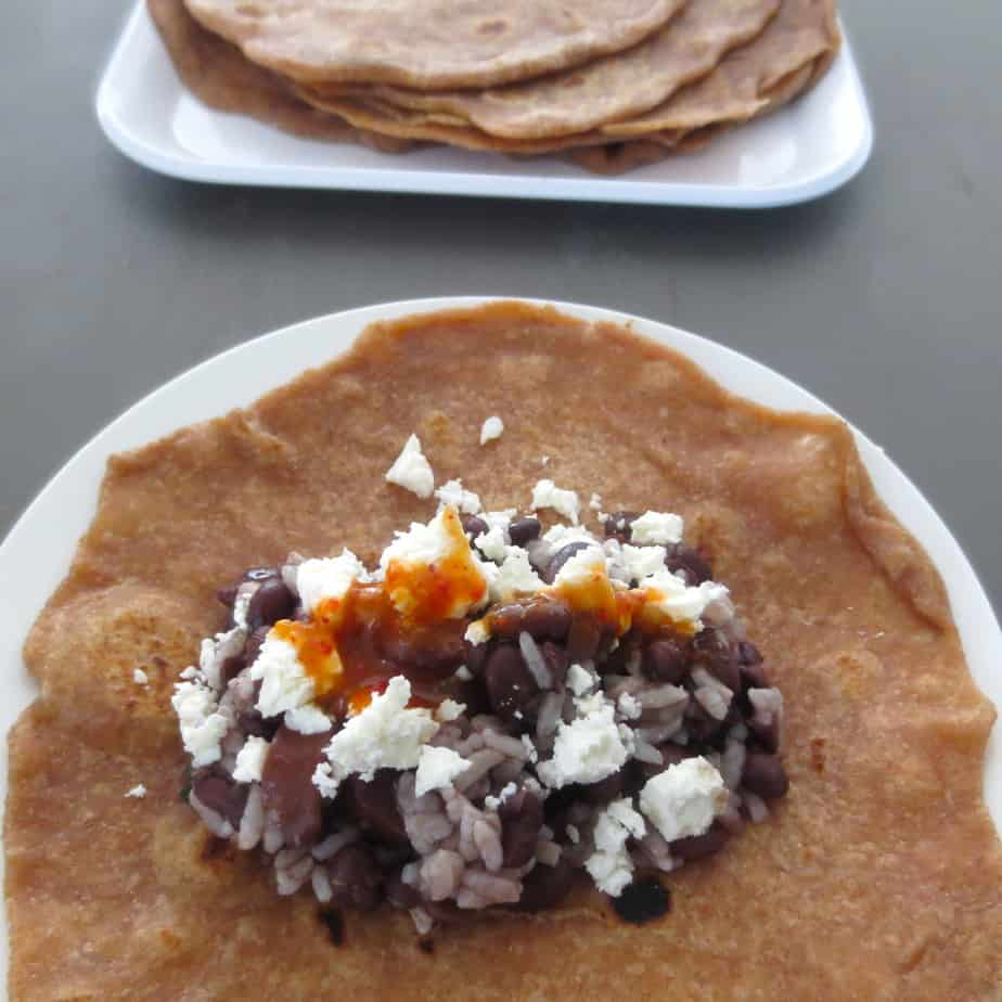Rice, Bean, and Cheese Burrito