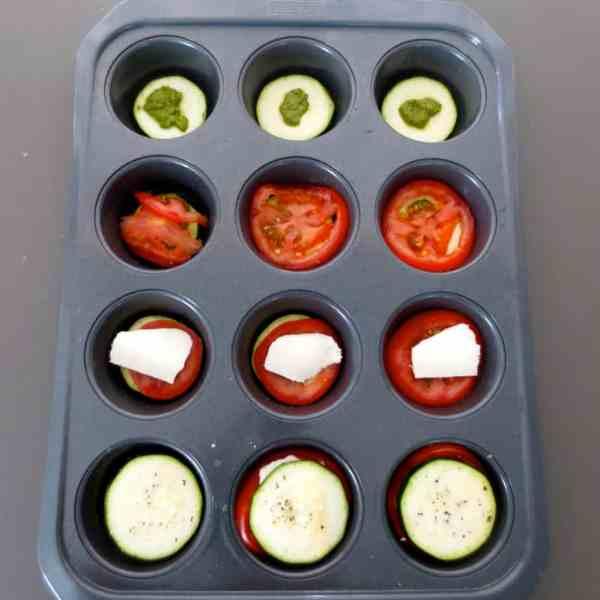Easy Zucchini Pesto Caprese Stacks